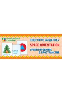 Кеңістікте бағдарлау. Ориентирование в пространстве. Space orientation. Тілетін дидактикалық карточкалар. (33 дана) / Разрезные дидактические карточки. 33 штуки