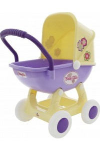Коляска для кукол «Arina» 4-х колёсная (в пакете)